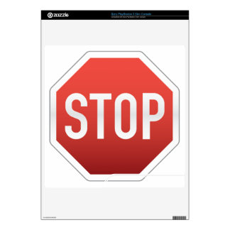 STOP sign Decals For The PS3 Slim
