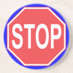 STOP SIGN DRINK COASTERS
