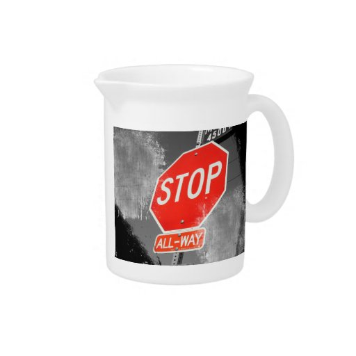 Stop Sign Drink Pitcher