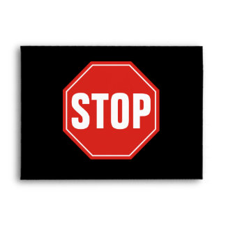 STOP Sign Envelope