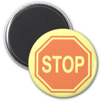 Stop Sign FADED Design 2 Inch Round Magnet