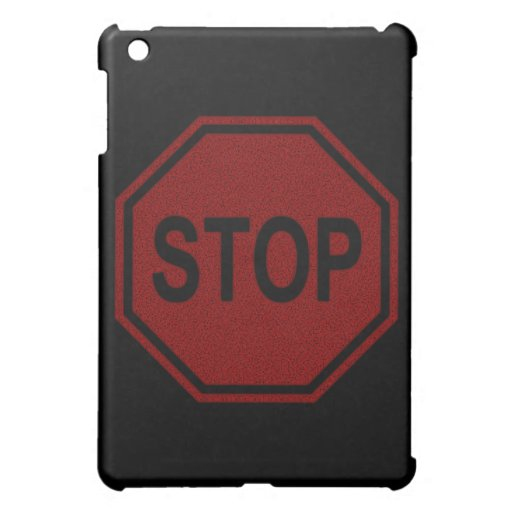 Stop Sign FADED Design Case For The iPad Mini