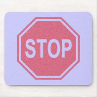 Stop Sign FADED Design Mouse Pad