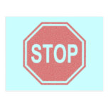 Stop Sign FADED Design Post Card