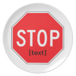 Stop Sign for a Cause Dinner Plates