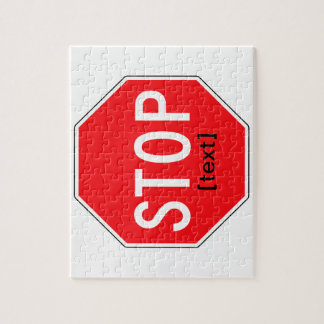Stop Sign for a Cause Jigsaw Puzzle