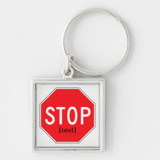 Stop Sign for a Cause Keychain