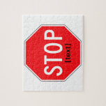 Stop Sign for a Cause Puzzle