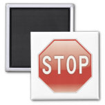 Stop sign fridge magnet