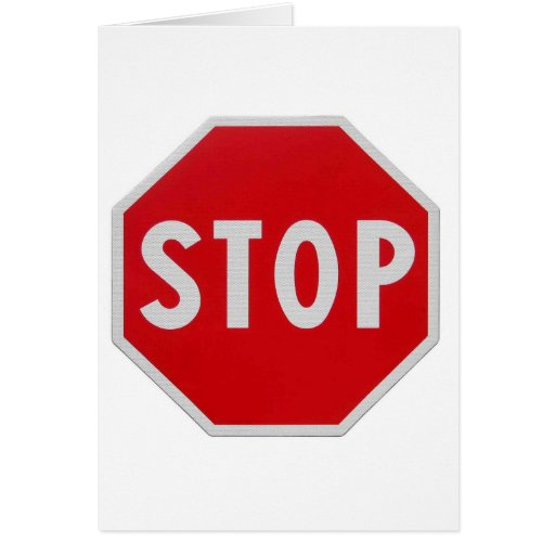 STOP SIGN GREETING CARDS