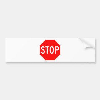 Stop Sign - Highway Hexagon Bumper Sticker