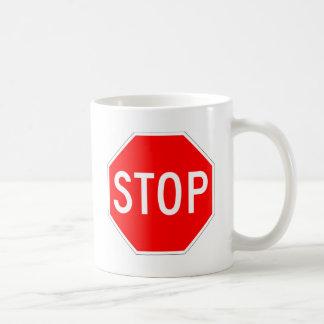 Stop Sign - Highway Hexagon Coffee Mugs