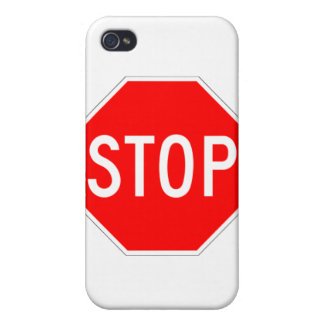 Stop Sign - Highway Hexagon Covers For iPhone 4