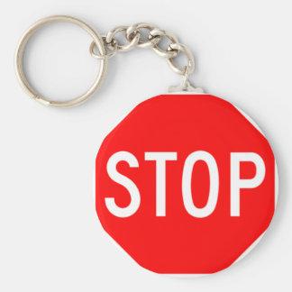 Stop Sign - Highway Hexagon Keychain