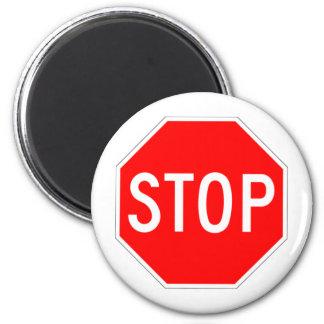 Stop Sign - Highway Hexagon Magnets
