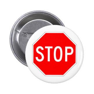Stop Sign - Highway Hexagon Pin