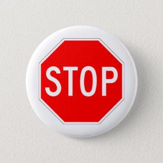 Stop Sign - Highway Hexagon Pinback Button