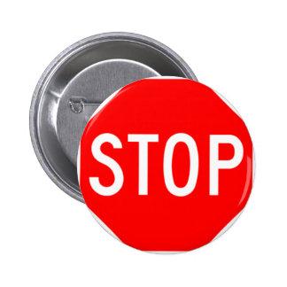 Stop Sign - Highway Hexagon Pins