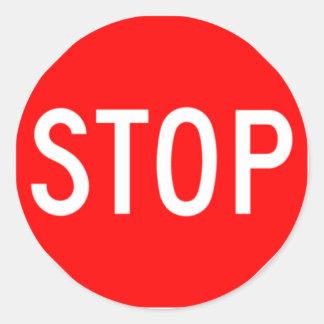Stop Sign - Highway Hexagon Sticker