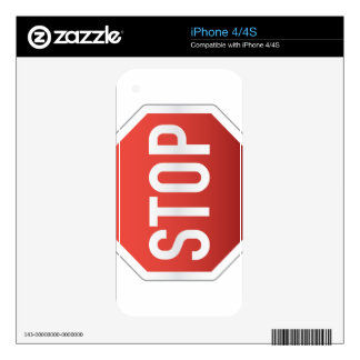 STOP sign iPhone 4S Decal