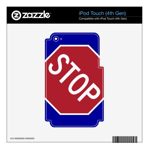 Stop Sign iPod Touch 4G Skin