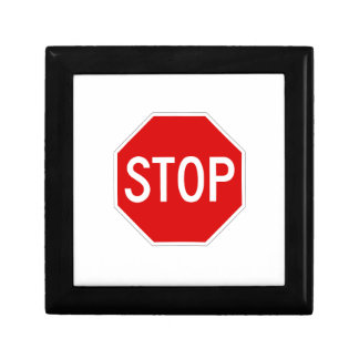 Stop sign jewelry box
