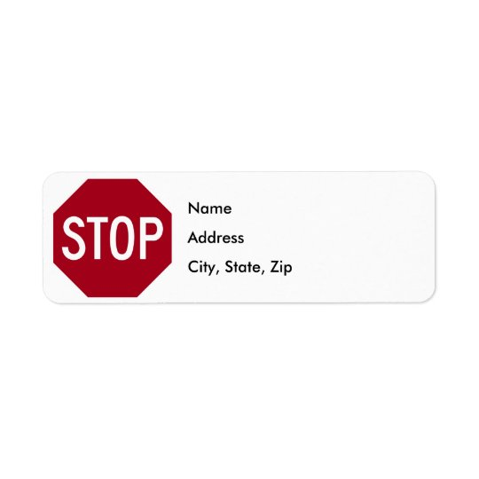 Stop Sign Label
