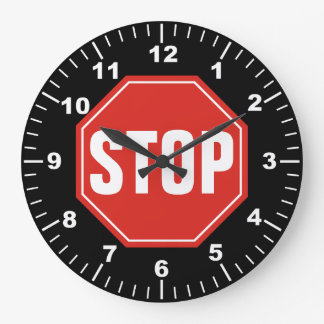 STOP Sign Large Clock