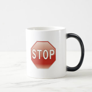 Stop sign magic mug