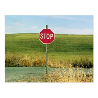Stop sign on Country, Palouse, Washington Postcard