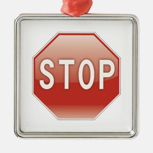 STOP sign Ornament