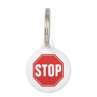 STOP Sign Pet ID Tag