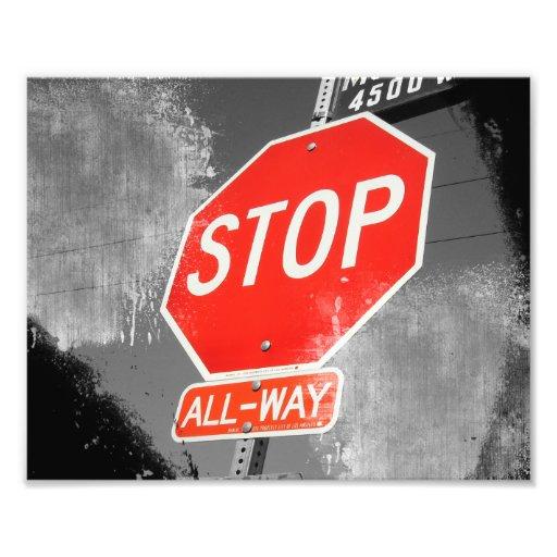 Stop Sign Photo Art