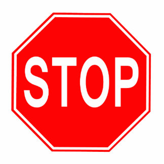 STOP Sign - Photo Sculpture