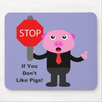 Stop Sign Piggy Mouse Pad