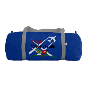 Stop Sign Plane Aerosol Trails LadyBug Duffle Bag
