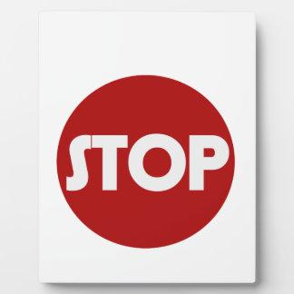 STOP Sign Plaque