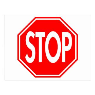 Stop Sign Postcard