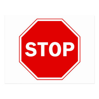 Stop Sign Post Cards