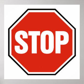 'STOP' sign Print