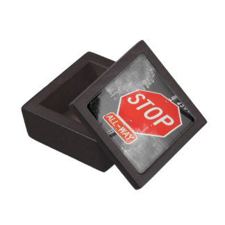 Stop Sign Premium Jewelry Boxes