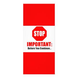 stop sign rack card