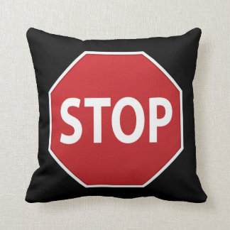 Stop Sign Reversible Design Throw Pillow