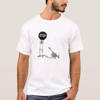 stop sign skeleton T-Shirt