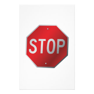 Stop Sign Stationery