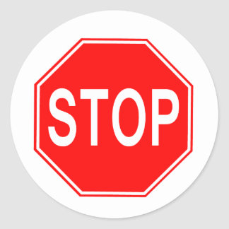 Stop Sign - sticker