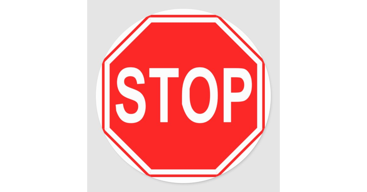 Stop Sign Stickers Zazzle Com