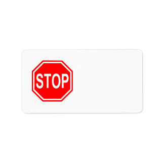 STOP Sign Stop Symbol Stop Icon Red Stop Sign Label