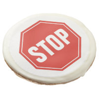 STOP Sign Sugar Cookie
