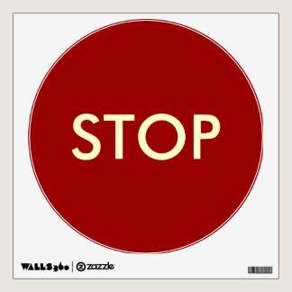 Stop Sign--Temporary/Reusable Wall Sticker